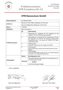 Prüfdokumentation IITR Compliance Kit 2.0